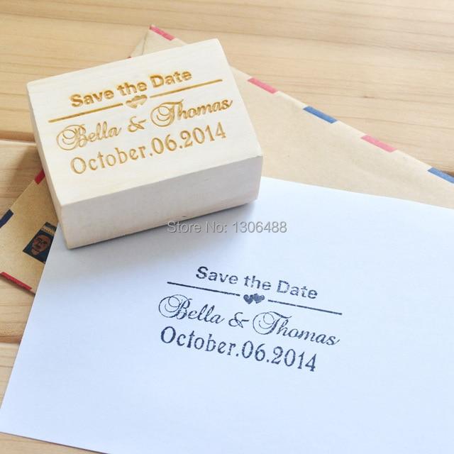 personnalis timbre pour mariage bois timbre invitation de mariage save the date personnaliser - Timbres Personnaliss Mariage