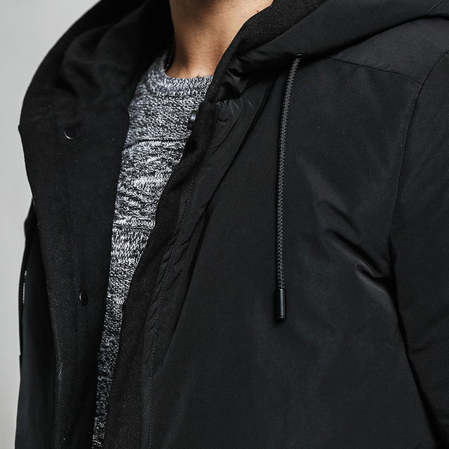 SIMWOOD Winter New White Duck Down Coats Men Slim Fit  Long Winter Jacket Male Parka High Quality Brand Clothing YR017003
