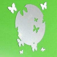 Funlife creatieve driedimensionale spiegel muur plakken ovale vlinder acryl muur plakken ps spiegel stickers worden verplaatst sticker