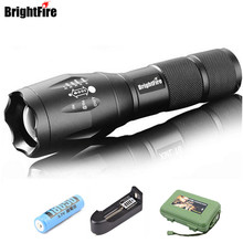 Professional 3800LM CREE XML-T6 LED Flashlight High quality 5 Modes Zoomable lanterna Torch Lighting use 3x AAA or 18650 Battery