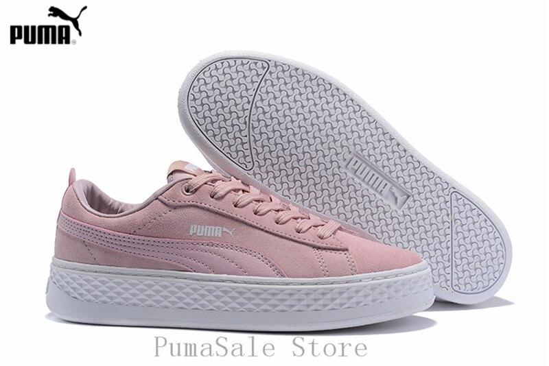 2018 New Arrival Original PUMA Smash Platform SD Women s Shoes Breathable Sneakers  Badminton Shoes Size36- aff51064e