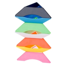 Colorful Plastic ABS Speed Magic Cubes Base Holder Stand Baby Kids Toys Gifts W15