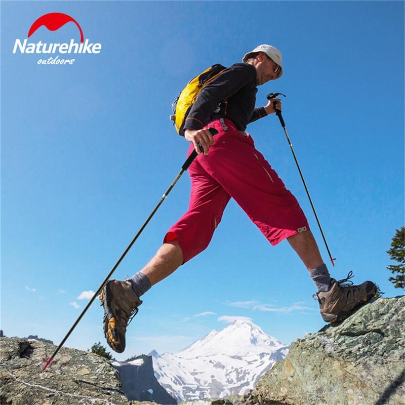 Naturetrekking ultra-léger 4 sections pliable réglable bâtons de randonnée en Fiber de carbone marche bâtons de randonnée canne de randonnée pôle de randonnée