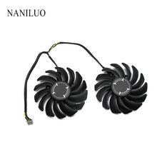 2 pçs/lote 4PIN PLD09210S12HH RX 470 480 570 580 fan Cooler Para AMD MSI RX470 RX480 RX570 RX580 ARMADURA de vídeo ventilador da placa