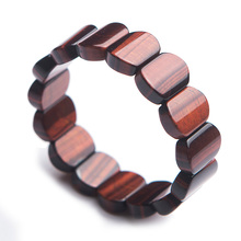 купить Genuine Natural Red Tiger Eye Rectangle Beads Gemstone Stone Bracelet Bangles 18x9mm Women Men Stretch Crystal Jewelry AAAAA по цене 1529.93 рублей