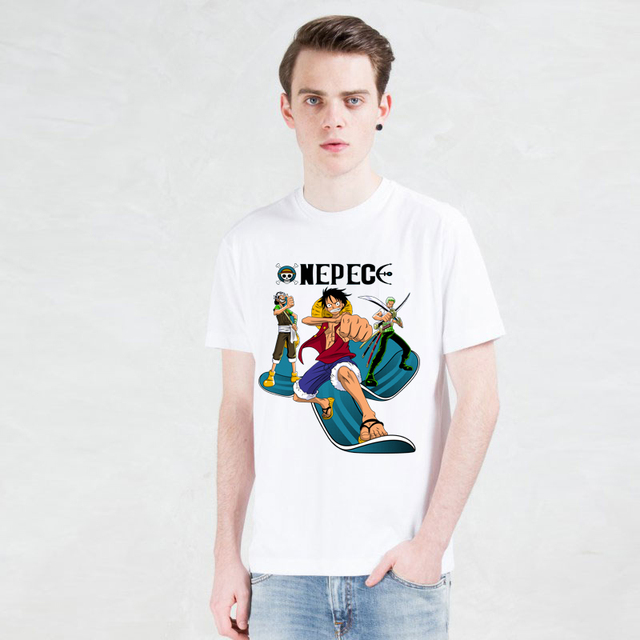 One Piece Anime Monkey D Luffy O-Neck Casual Men's T-shirt