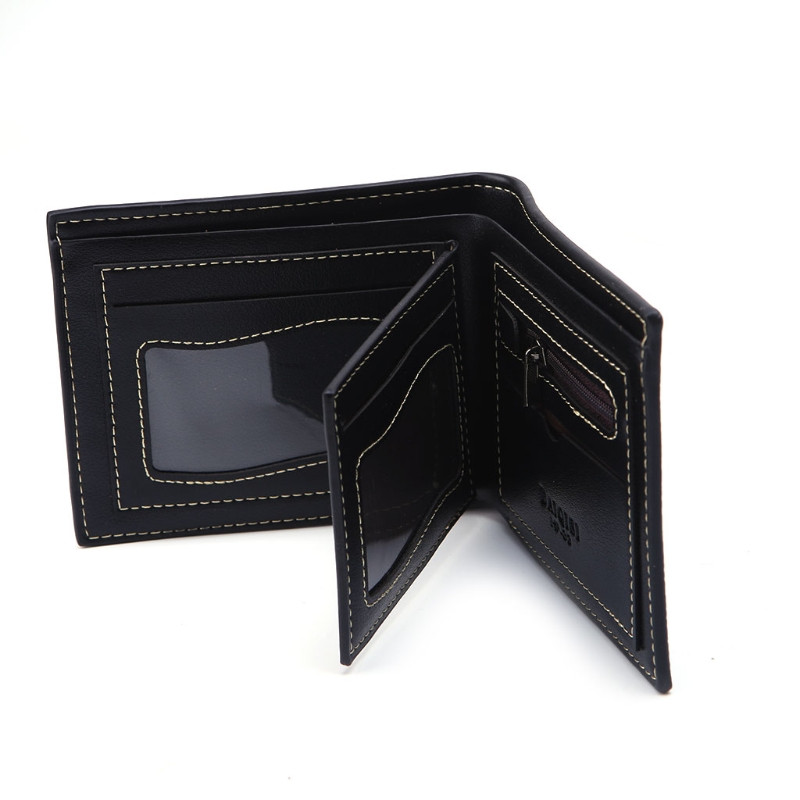 2017 Fashion Men Bifold Business Wallet Money Purse Card Holder Coin Pocket Bag New Synthetic Leather 2 Colors Photo Holders new multifunction man wallets 3 colors mens pu leather zipper business wallet card holder pocket purse hot plaid pouch fashion