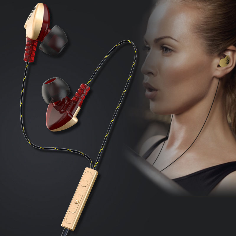 Super Bass Earphone 3.5mm In Ear Sport Running Ear Hook Music Stereo Wired Headset Handsfree With Mic Volume Control For Samsung teamyo portable in ear earphone stereo music handsfree headset with mic volume control for samsung galaxy s2 s3 s4 note3 n7100