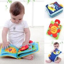 12 страниц Мягкой Тканью Детские Мальчики Девочки Книги Шелест Звуковые Детские Развивающие Коляска Погремушки Toys Для Новорожденного Ребенка 0-12 месяц