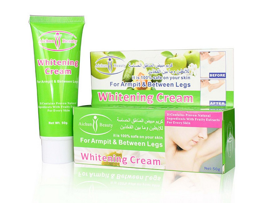 Aichun Beauty Armpit whitening cream 50g armpit elbows knee dilute melanin body whitening lotion 7