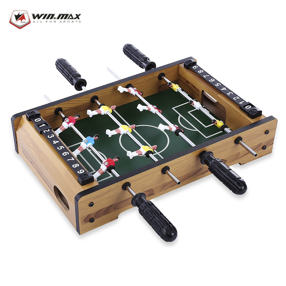 WIN MAX Funny Mini Table Soccer Hot Sale Foosball Board Game Home Table Soccer Set Football Toy Gift Game Accessories funny table blue