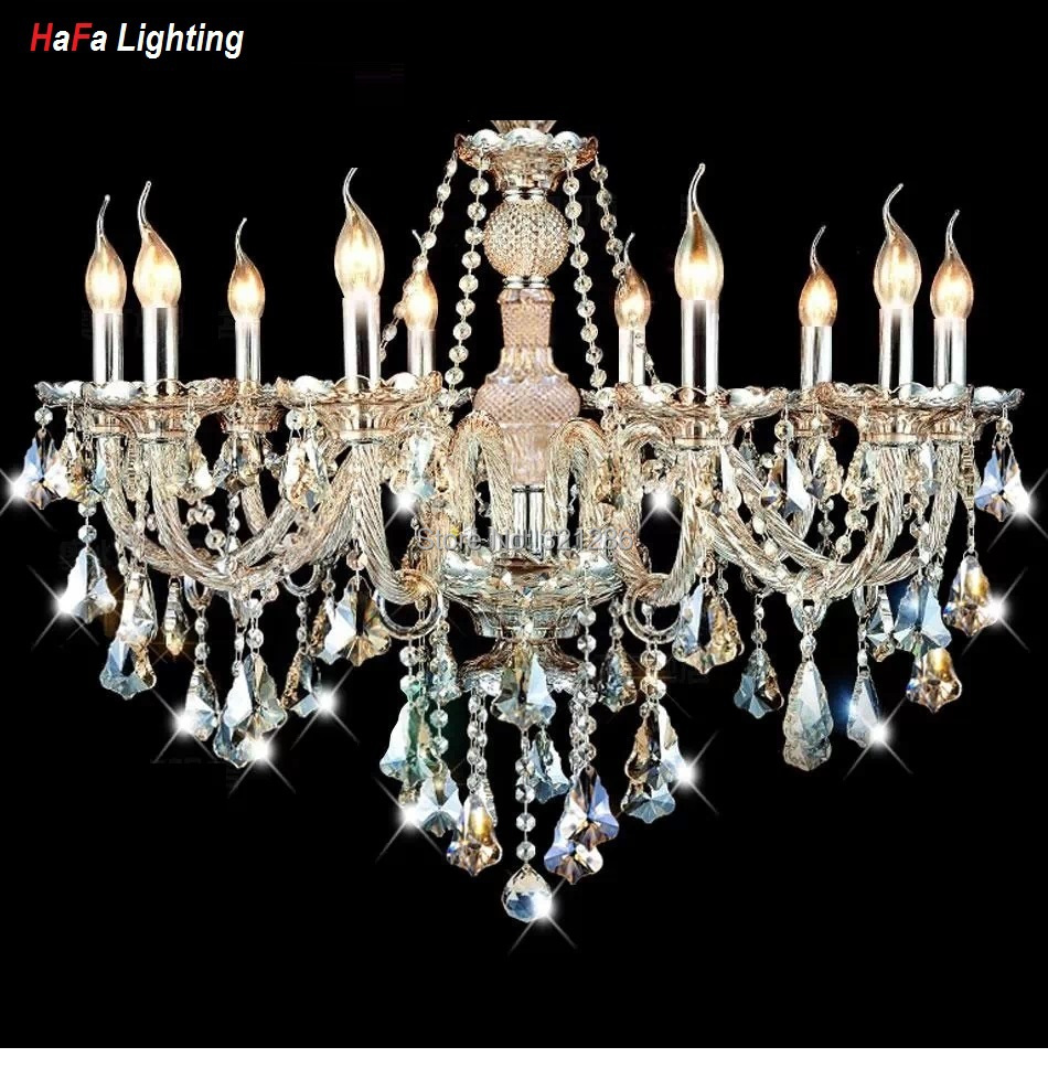 Špičkový moderní křišťálový lustr světlo do obývacího pokoje luxusní křišťálové osvětlení Lustry křišťálový koňak Moderní křišťálová lampa
