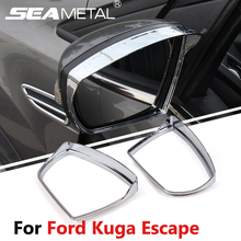 For Ford Kuga Escape 2013 2014 2015 2016 Car Rearview Mirror Rain Eyebrow Cover Stickers Decoration Accessories Car-styling
