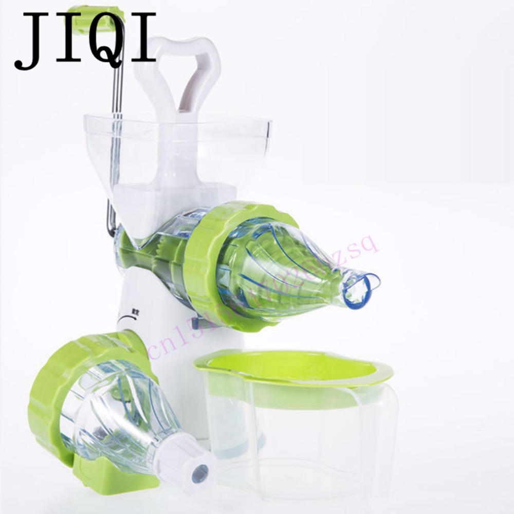 JIQI Juicer Manual Hand Orange Slow Juicers Lemon Extractor Blend Fresh Health  ice cream Machine Kitchen Tools mini grinder  manual lemon orange juicer light green