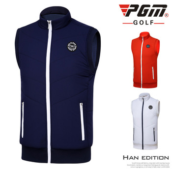 PGM NEW autumn and winter men's golf vest outdoor golf clothing thickened fleece warm golf sport sleeveless jacket