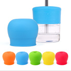 Creative Silicone Sippy Lids for Baby Drinking Converts Any Cup or Glass to a Sippy Cup Makes Drinks Spillproof Reusable Durable