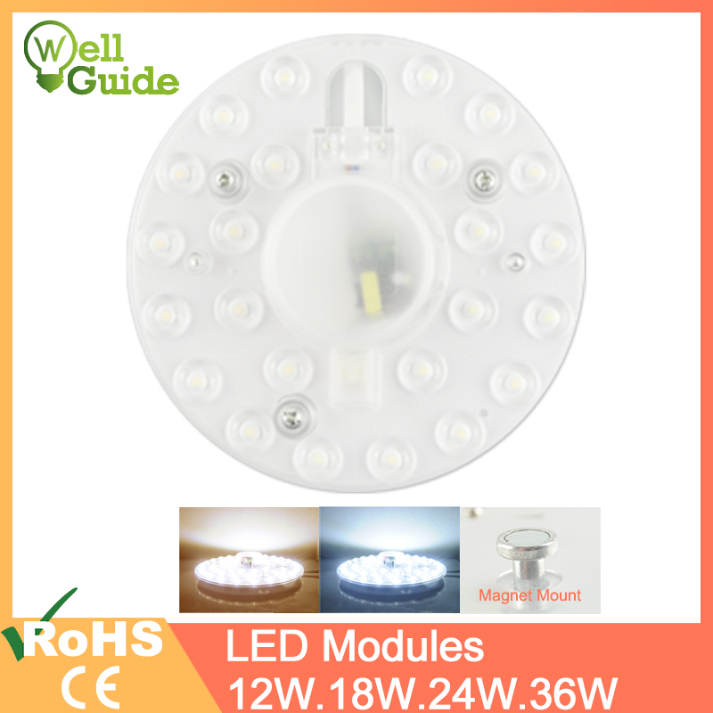 <font><b>LED</b></font> <font><b>Module</b></font> <font><b>LED</b></font> Panel Ceiling Light Lamp MINIModule Replace Accessory Magnetic Source Light Board Bulb Long Life 220V 12W 18W <font><b>24W</b></font> image