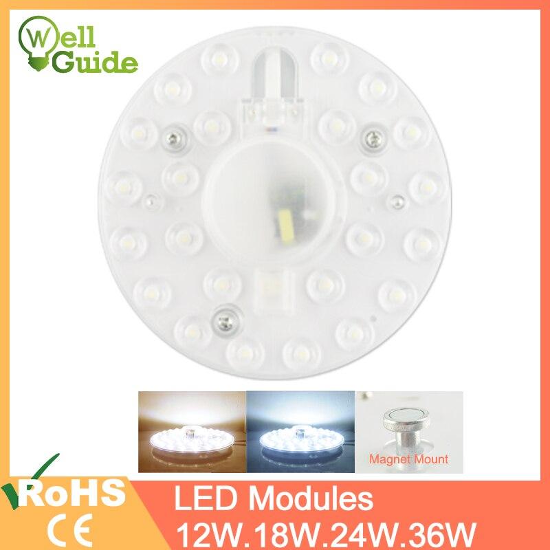 Módulo led painel led lâmpada de luz de teto minimodule substituir acessório fonte magnética placa de luz lâmpada longa vida 220 v 12 w 18 w 24 w