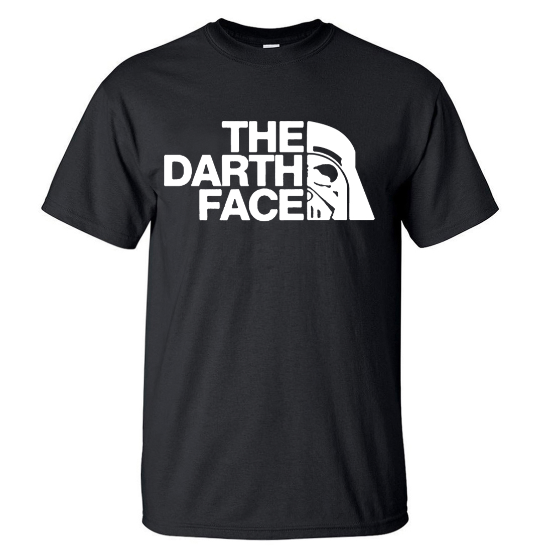 Star Wars The Darth Face Casual Round Neck Short Sleeve Tshirt 2018 Summer Hot Sale Mens   T     Shirt   100% Cotton Men   T     Shirts   S-XXL