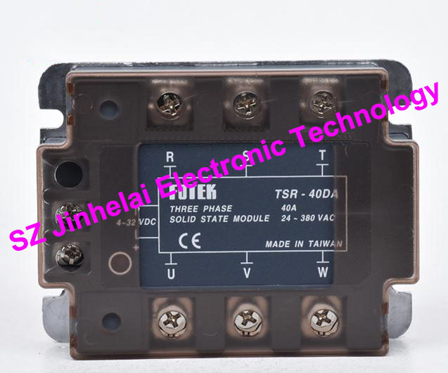 New and original FOTEK 3-phase solid state relay TSR-40DA 3-Phase Solid state module 40A цена 2017