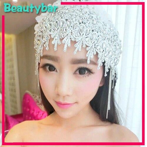 Luxury Rhinestone Lace Bridal Tiara Headwear Wedding Hat Fascinators Hair  Accessories Ornament For Bride Head Pieces 1c30b1a24a6