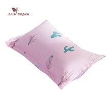 SlowDream Cactus Printing Bedding Pillowcase Size 48X74CM Bedroom Sleeping Decorative Home Textiles Pillow Cover