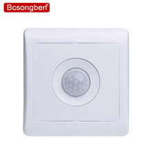Bcsongben New Arrivals 220v 86 wall smart home led Infrared control energy-saving delay Lights Lamps motion sensor light switch(China)