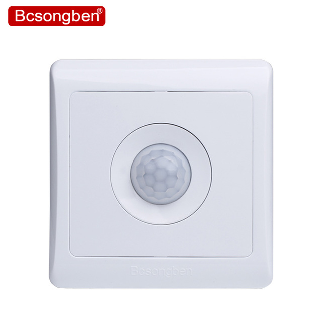 Bcsongben recién llegados 220 v 86 pared inteligente hogar led control infrarrojo ahorro de energía luces de retardo lámparas sensor de movimiento interruptor de la luz