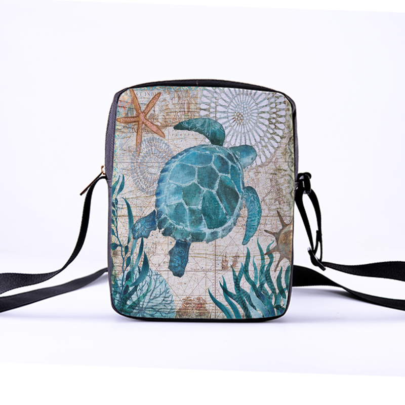 CROWDALE Women Crossbody Bags Marine life Printing Casual