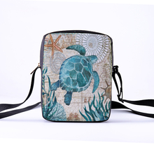 CROWDALE Women Crossbody Bags Marine life Printing for Kids Girls Casual Mini Female Children Messenger Bolsos Mujer