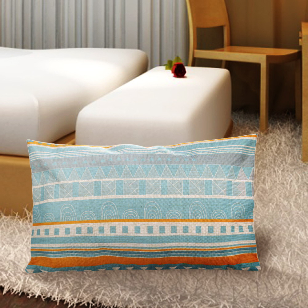 Decorative Pillows Line Pattern Thick Cotton Waist Pillows 30x50CM Cushion Decor On The Sofa ...