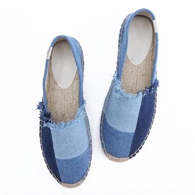 De Casual Chaussures Femmes Toile Une Ensemble Pédale Paille Mode Dames 43 2018 Paresseux Taille Grande Plat Nouvelle Pêcheur 14B88x