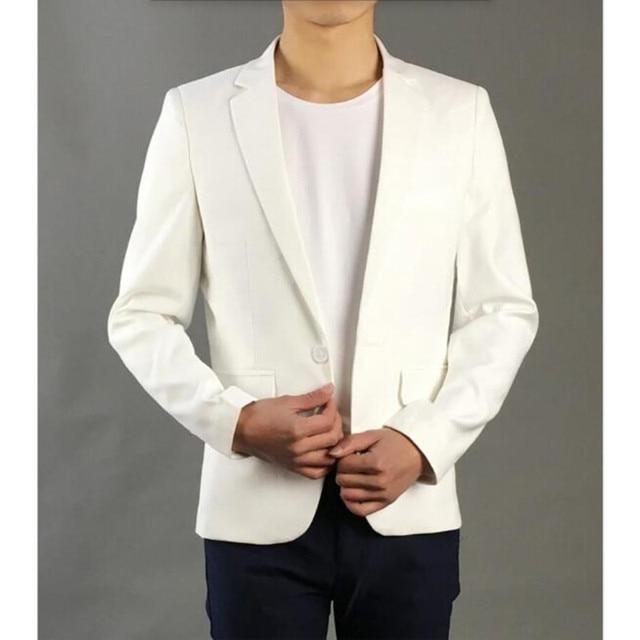 Осень высокое качество мужской костюм куртка белое свадебное жених деловой костюм тенденции моды пальто костюмы формальных случаев