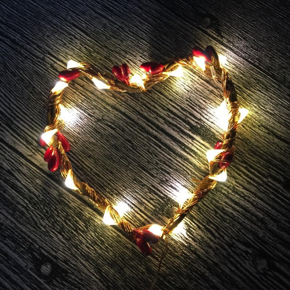 3PCS 2M 20 LED'er Batteridrevne Kobber Wire Micro LED Starry Lights String til Bryllupsjulefest