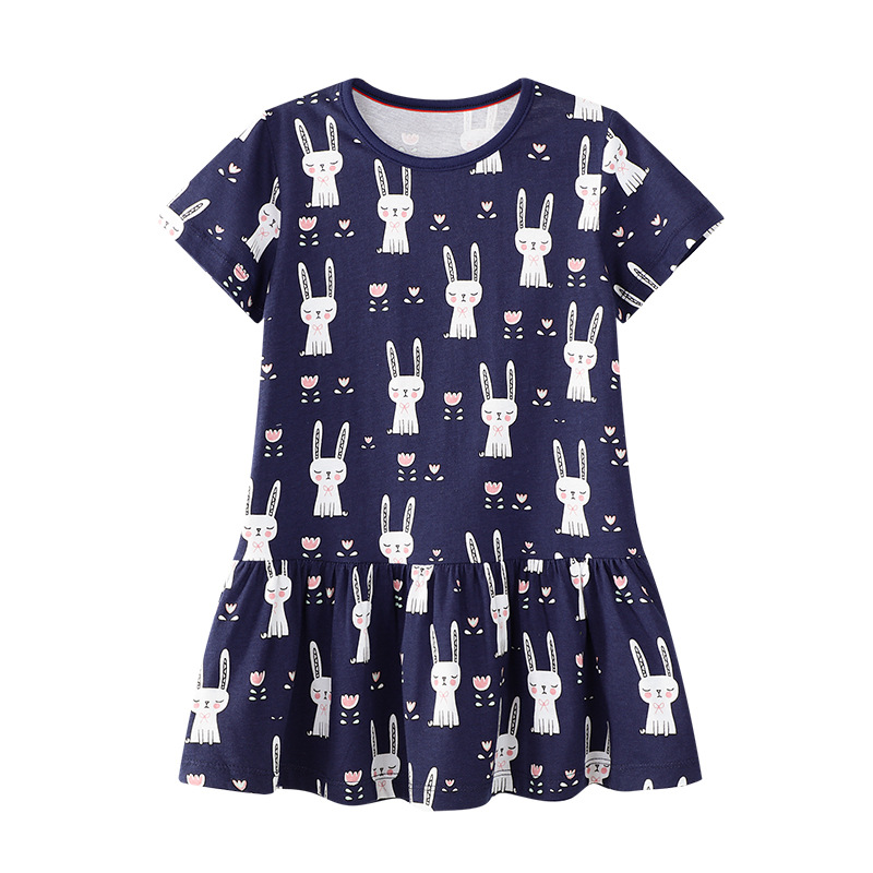 Baby Dress 2019 Summer New Girls Fashion Infantile Dresses Cotton Children 39 s Clothes Flower Style Kids Clothing Princess Dress in Dresses from Mother amp Kids