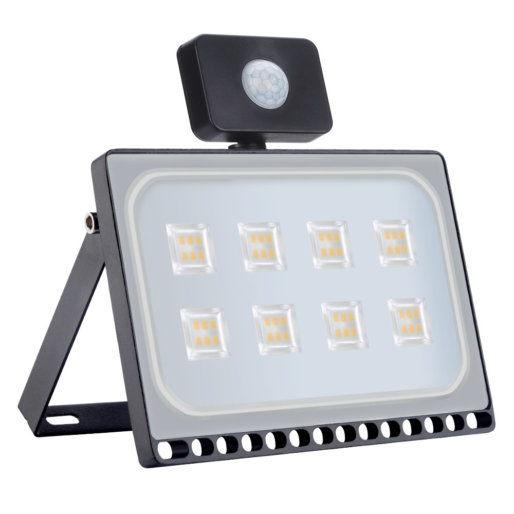 5PCS/Lot Ultrathin 110V 220V 50W Led Floodlight Outdoor Lighting Motion Sensor Led Flood Lights Spotlights Waterproof IP655PCS/Lot Ultrathin 110V 220V 50W Led Floodlight Outdoor Lighting Motion Sensor Led Flood Lights Spotlights Waterproof IP65