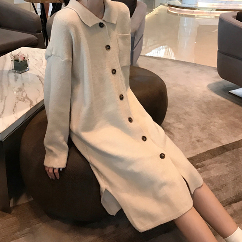Fat mm in Autumn and Winter 200 Kinds and Large Size Women s Knitted Dresses Loose