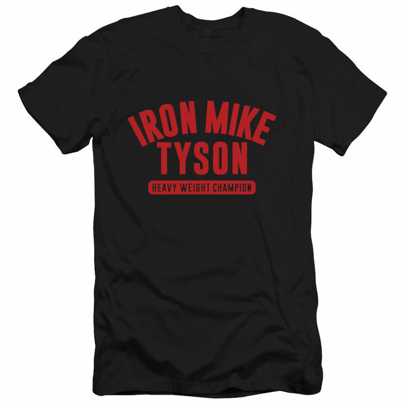 2017 Fashion Iron Mike Tyson T Shirt Man Leisure Summer T-shirts Iron Mike Tyson Pure Cotton XS-3XL Tshirts For Adult Teenager