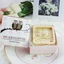 8pcs/lot Mini Craft Cute Owl Soap Love Small Gift Between Friends Christmas Wedding Party Favor Return Present