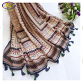 1PC 2016 Hot Sale Design Ethnic Style Fashion Acrylic Cotton Women Tassels Scarf Woman Cotton Tassels Long Pashminas
