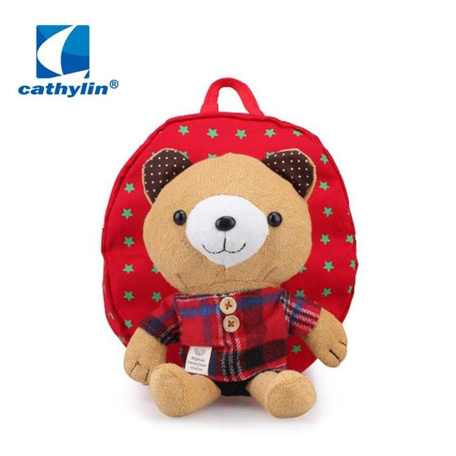 5f035bf054 2016 Retail Animal design children boys girls 3D cute rabbit school bag  anti lost backpack kids kindergarten bag baby cartoon-in School Bags from  ...