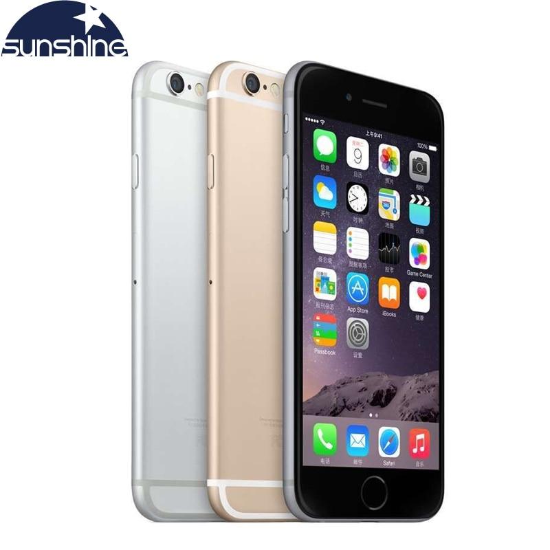 Desbloqueado original apple iphone 6 lte 4g telefones celulares 1 gb ram 16/64/128 gb ios 4.7 8.8.0mp duplo núcleo wifi gps telefone móvel