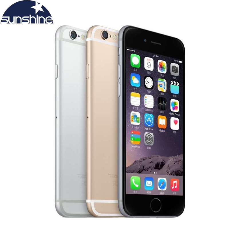Unlocked Original Apple iPhone 6 LTE 4G Mobiltelefoner 1GB RAM 16/64 / 128GB iOS 4.7 '8.0MP Dual Core WIFI GPS Mobiltelefon