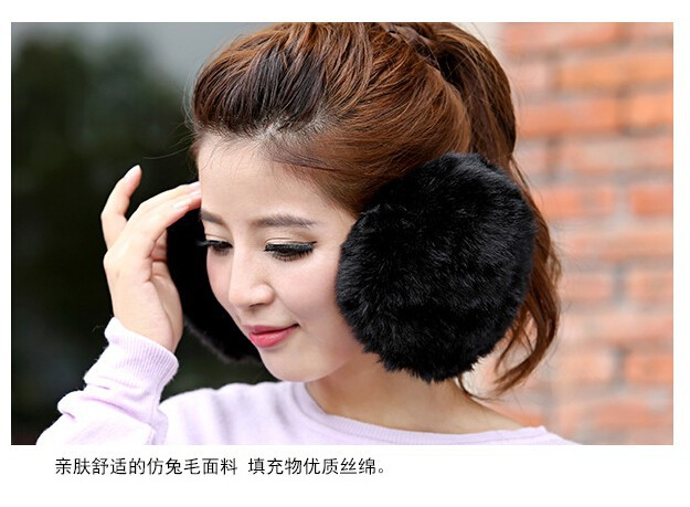 Imitation Rabbit Fur Earmuffs Warm Fashion Large Ear Cover Super Soft Free Shipping Earmuffs 100pcs One Lot EMS Fast