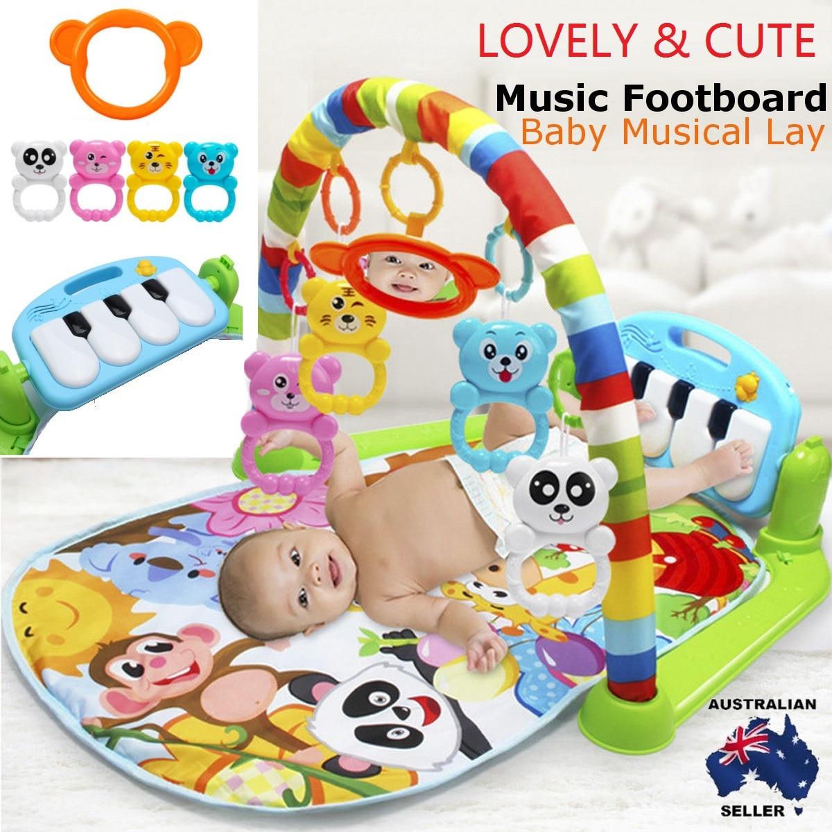 3 en 1 jouet éducatif bébé jouer tapis enfants tapis éducatif Puzzle tapis de Piano clavier mignon Animal doux plancher Action tapis de jeu
