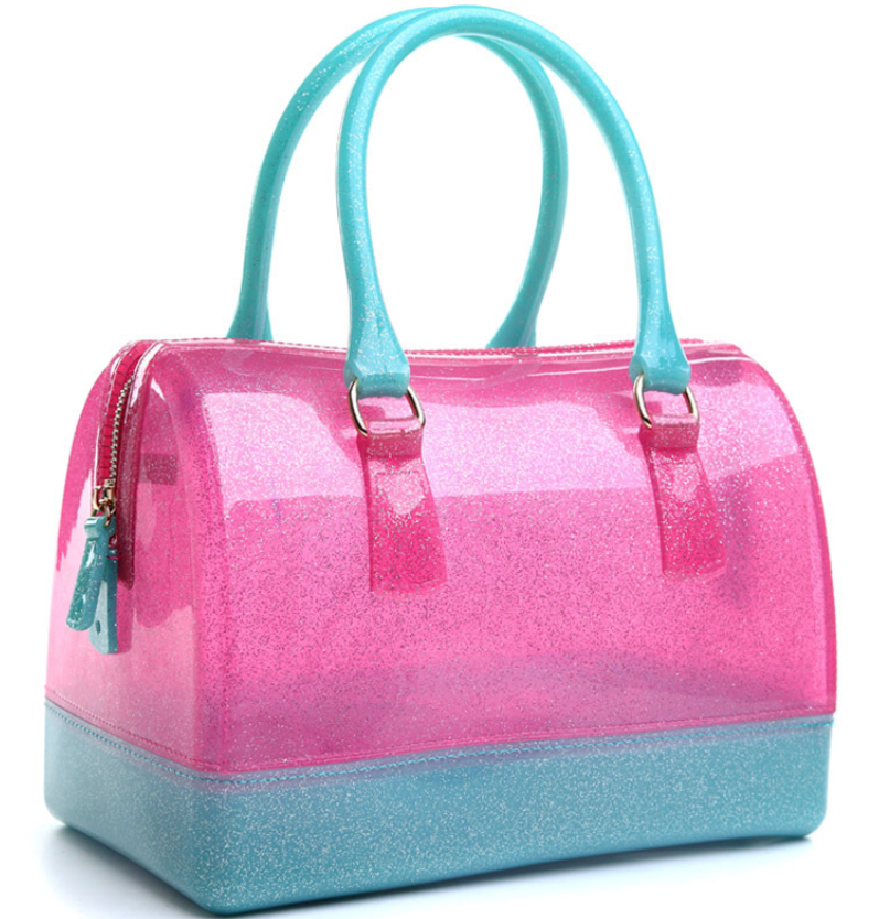 Free Shipping 2017 New Design Fur Candy Handbags Whole Women Fashion Jelly In Top Handle Bags From Luggage On