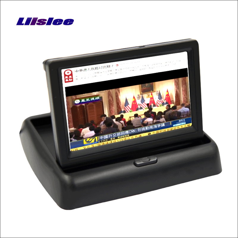 цена Liislee For Renault Megane 2 II Foldable Car HD TFT LCD Monitor Screen Display / 4.3 inch / NTSC PAL Color TV System
