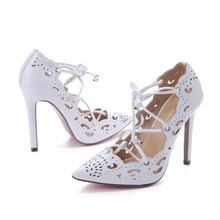 Women Pumps 2015 Brand Sexy High Heels Wedding Party Woman Shoes Gold and White Heels Zapatos Mujer Plus Size 35-43