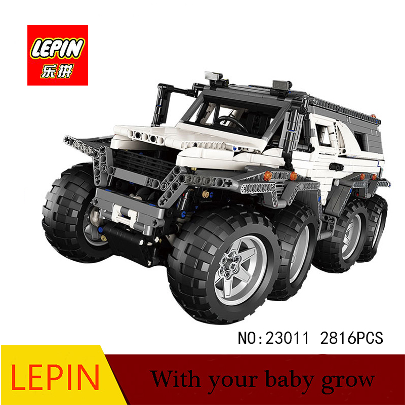 DHL lepin 23011 2861Pcs lepin Technic Series Off-road vehicle Model Building Kits Block Bricks Toy Compatible Legoed 5360 2816 pcs lepin 23011 technic series off road vehicle model moc assembling building kits block bricks compatible 5360 toy