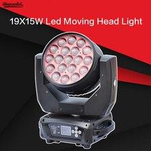 19X15 Вт светодиодный зум движущийся головной свет RGBW Wash Effcect свет для Dj оборудования